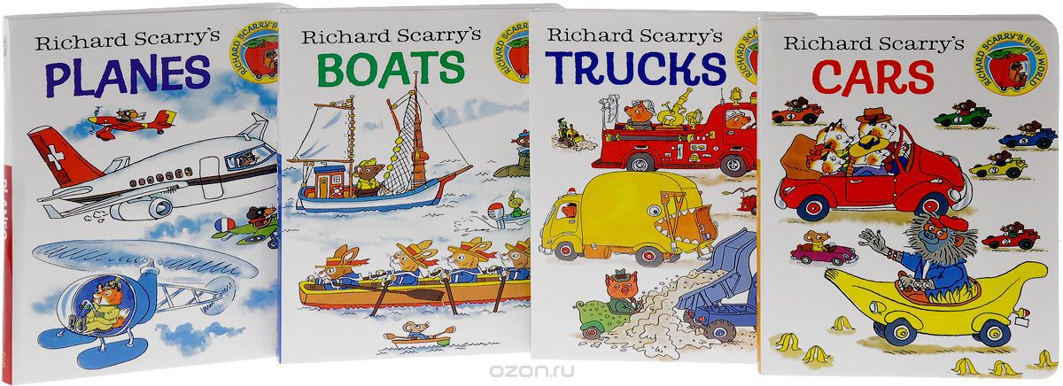 Books on the Go! Cars: Tracks: Boats: Planes (комплект из 4 книг)