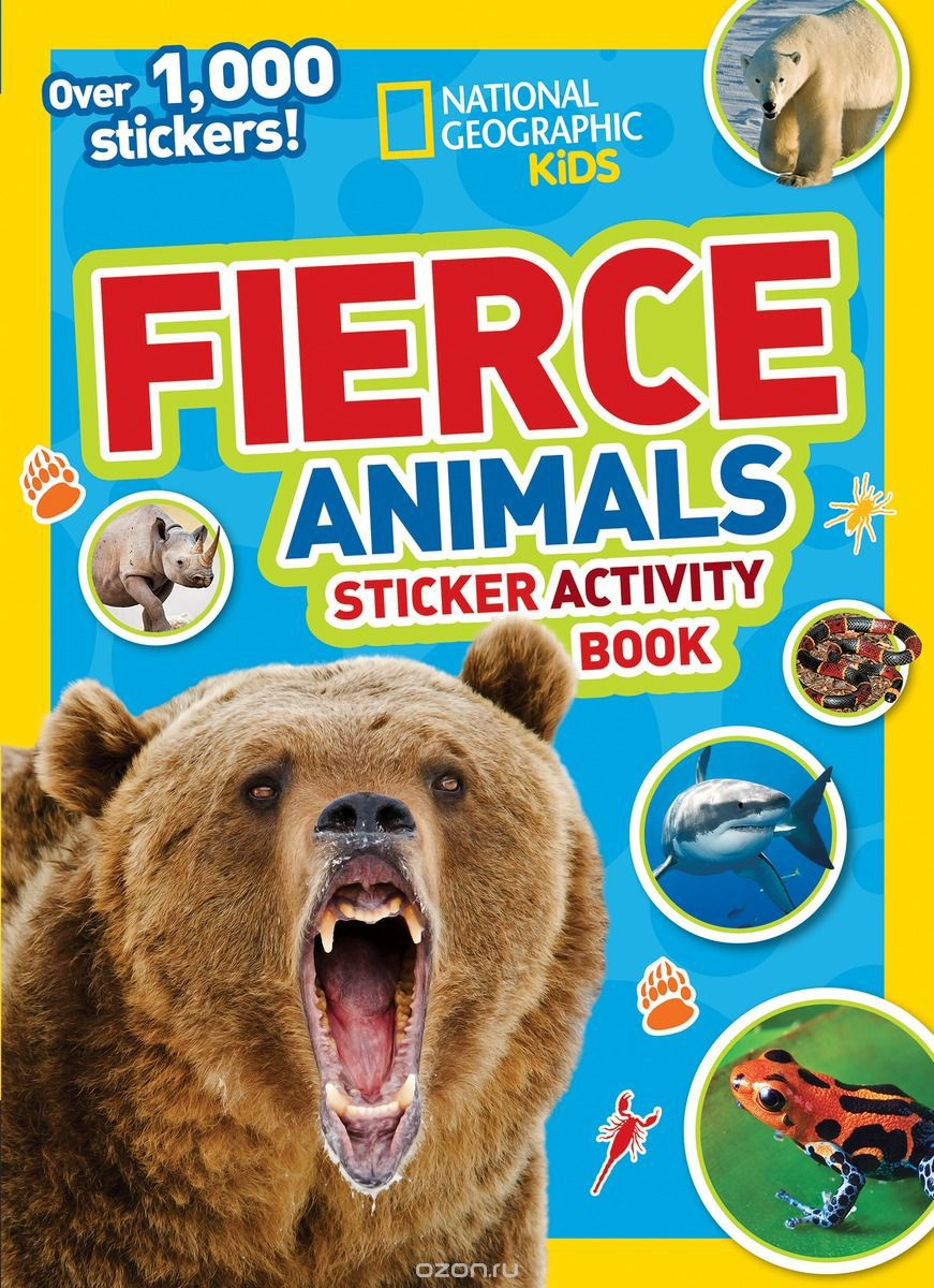 NGK FIERCE ANIMALS STICKERS