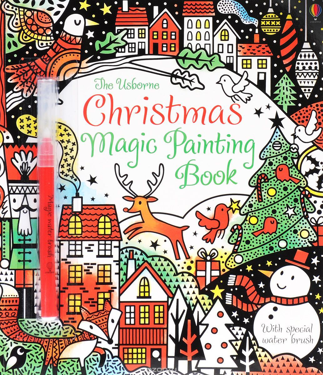The Usborne Christmas Magic Painting Book (+ фломастер)